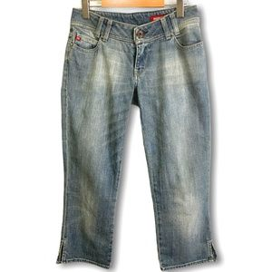 MISS SIXTY 5 Pocket Denim Capris Made in Italy 30